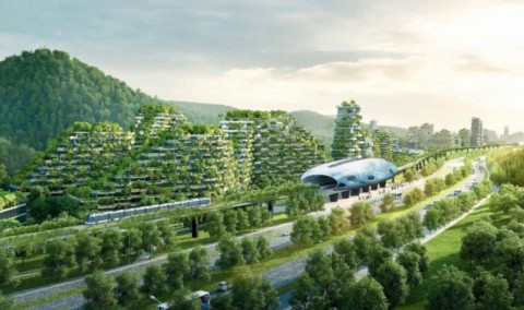 Nieuwe evolutie: smogetende Forest City in China [view]