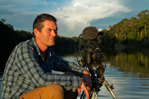 Me filming in Manu National Park.