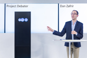 debateren met een AI machine